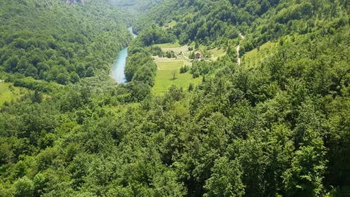 Mountains and Tara River Canyon in Durmitor, Montenegro