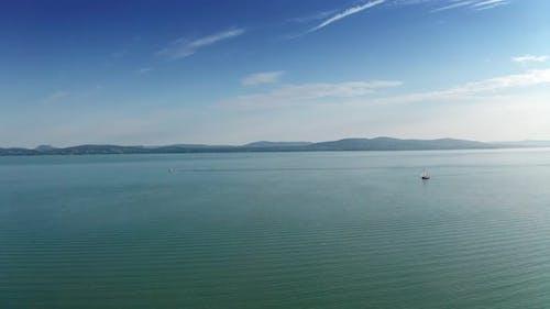 Drone Footage Aerial View of Balaton Lake, Hungary