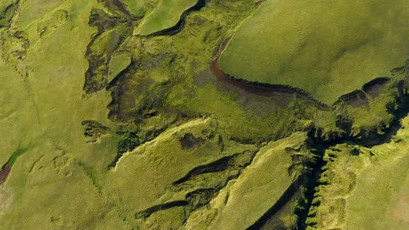 Thumbnail for Flying Over the Lava Flows and Green Moss of  Eyjafjallajokull Volcano in Iceland