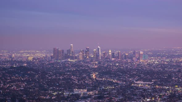 Thumbnail for Los Angeles Downtown at Sunset. California, USA