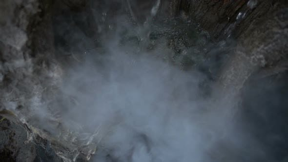 Thumbnail for Waterfall and Rocks Stones and Smoke