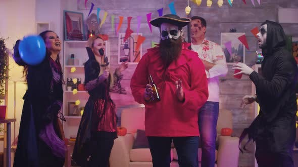 Thumbnail for Bearded Man Dressed Up Like a Pirate