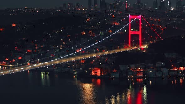Istanbul Famous Bridge in Turkey