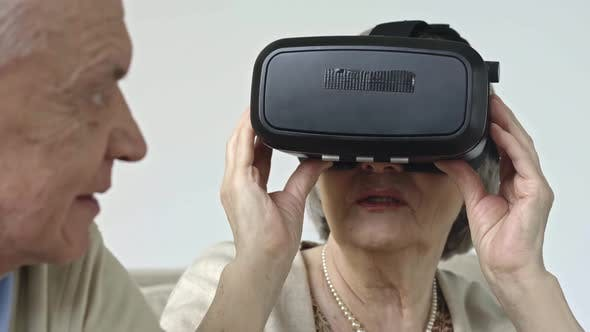 Thumbnail for Elderly Couple with Virtual Reality Glasses