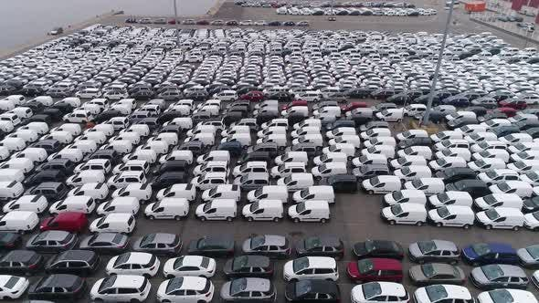 Thumbnail for Lot of New Unsold Cars on Port