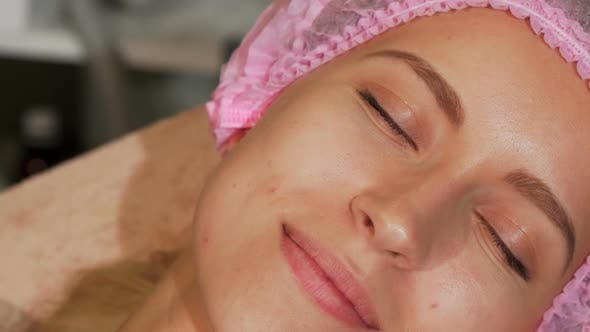 Thumbnail for Young Woman Getting Facial Treatment at Cosmetology Salon 1080p