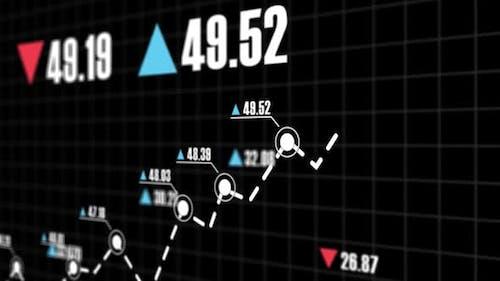 Pfeile Aktien- und Investitionswachstum an der Börse