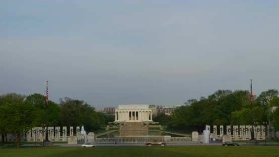 Thumbnail for National World War II Memorial, Lincoln Memorial in Background