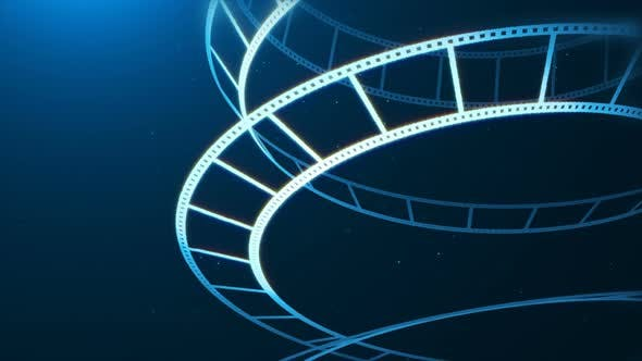 Thumbnail for Blue Film Reel Rotation