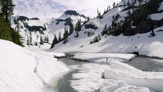 Thumbnail for Washington Summer Snow Melt Mountain Landscape Time Lapse