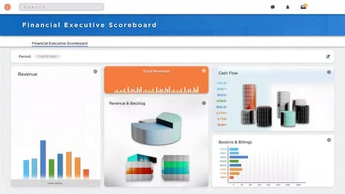 Financial Business Programme Software Illustrating Charts and Graphs