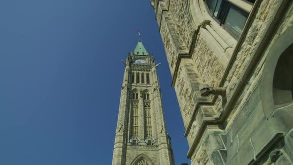 Thumbnail for Low angle view of the Peace Tower, in Ottawa