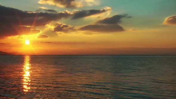 Sunset On The Sea Time Lapse