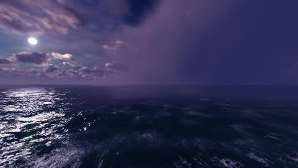 Thumbnail for Flying Through Night On The Sea 01 4K