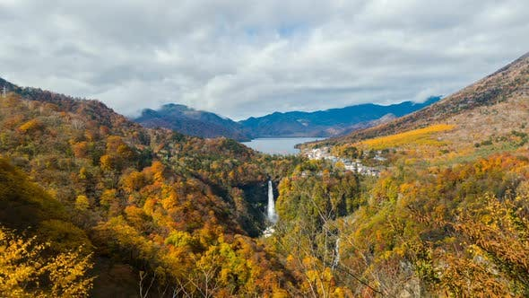Thumbnail for Mountain And Waterfall in Autumn
