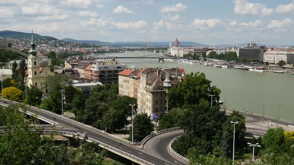 Thumbnail for Time lapse from Danube river from Gellért Hill