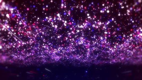 Particle Glitter Lights Background