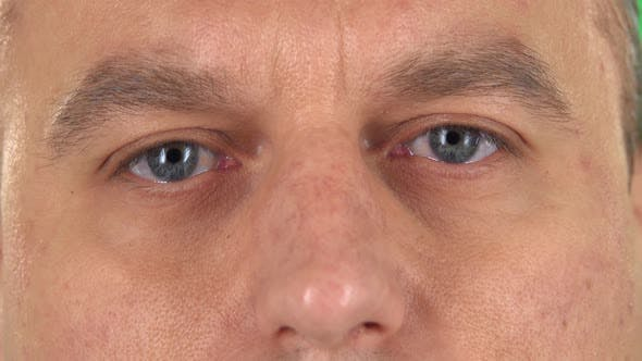 Thumbnail for Man Eyes Close Up, Macro Portrait