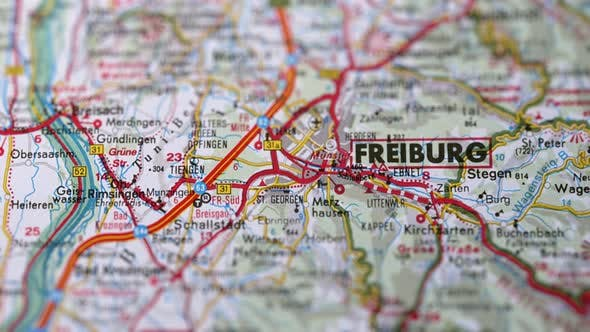 Thumbnail for City Freiburg On Europe Map, Slider Shot