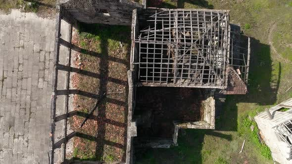 Thumbnail for Aerial View of an Old Abandoned House