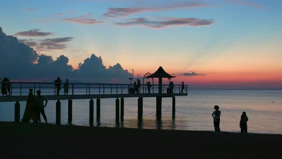 Thumbnail for Sunset and bridge in ishigaki island