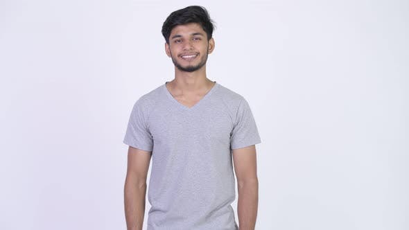 Thumbnail for Young Happy Bearded Indian Man Giving Thumbs Up