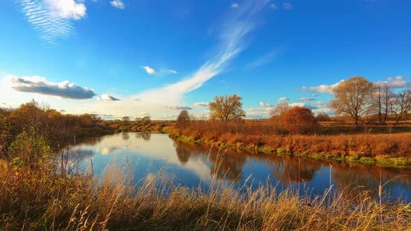 Thumbnail for Autumn Landscapes Sky Over River