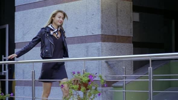 Thumbnail for Beautiful Girl Walking the City Street