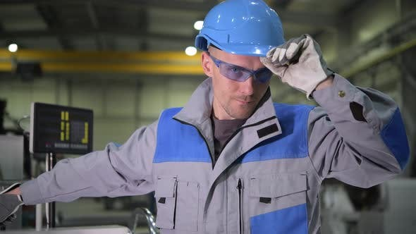 Thumbnail for Caucasian Metal Industry Worker Portrait