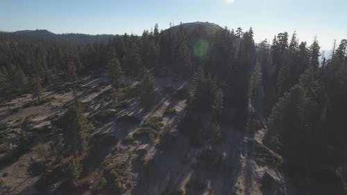 Aerial view of Sentinel Dome in Yosemite National Park, California USA