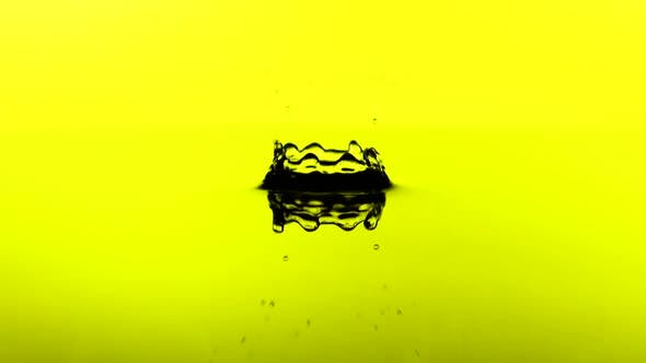 Thumbnail for A Drop of Water Falls on the Surface of a Liquid in Slow Motion. Concept. FullHD