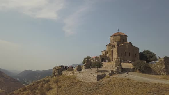 Thumbnail for Aerial view of Jvary monastery in Mtskheta, Georgia