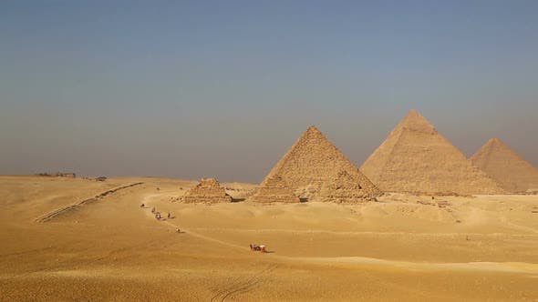 Thumbnail for Panorama of Great Pyramids at Giza Cairo in Egypt