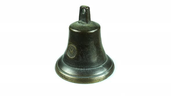 Cover Image for Rotating Antique Brass Bell.