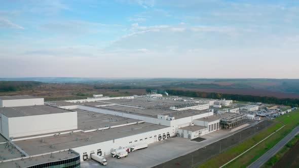 Exterior of contemporary factory