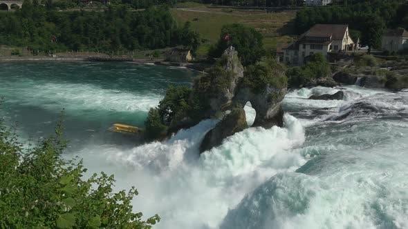 Thumbnail for View waterfall the Rhine Falls (Rheinfalls) in Schaffhausen, Switzerland