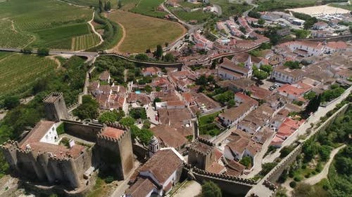 Medieval Castle and City Of Óbidos, Portugal