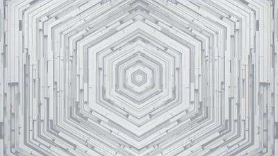 Hexagon White Background