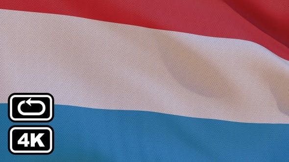 Thumbnail for Luxembourg Flag 4K Seamless Loop