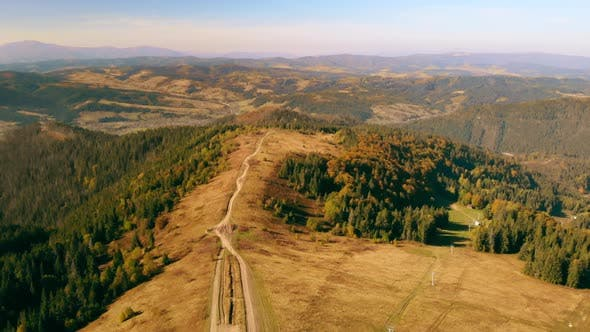 Aerial View Paysage in Carpathians