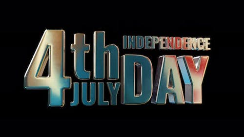 4Th July Independence Day Inscription