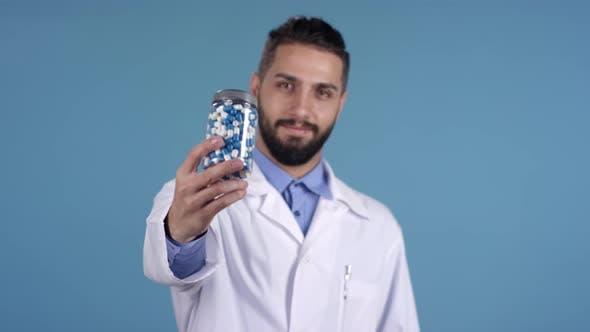 Thumbnail for Handsome Doctor Advertising Jar of Pills