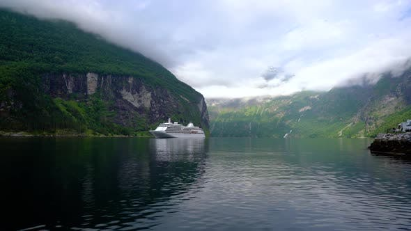 Thumbnail for Cruise Liners On Geiranger Fjord Norway