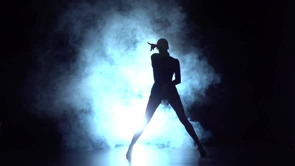 Thumbnail for Latin Dance in the Studio, Silhouette. Slow Motion