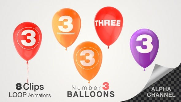 Thumbnail for Balloons With Number 3