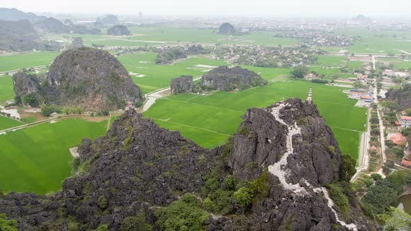 Thumbnail for Mua Cave Viewpoint Landscape in Ninh Binh, Vietnam Timelapse