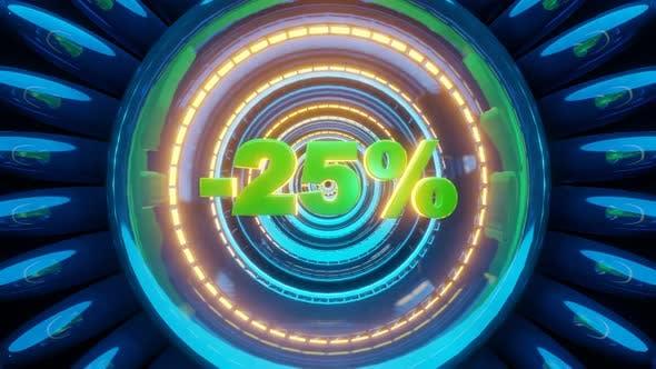 3d Render Percentage Text 25
