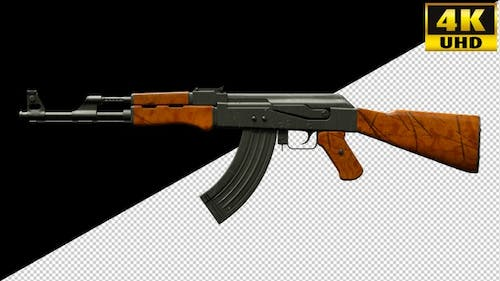 Ak 47, Weapons, Guns On Alpha Channel Loops V1