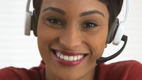 Thumbnail for Smiling African American customer service representative