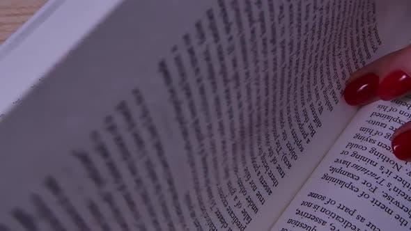 Woman Reads an Open Book